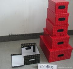 Folded storage packing  box