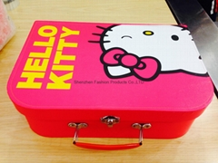 Hello kitty  cardboard suitcase for baby