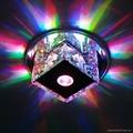 3W LED Mini Mirror Crystal + Steel Ceiling Lamps Hall Lighting 2