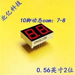 5621雙位LED數碼管二位共