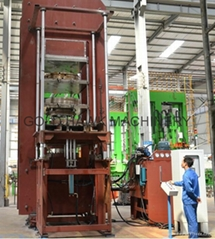 hydraulic solid tire curing press