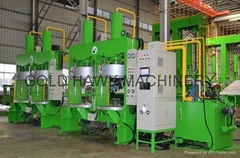 hydraulic tyre curing press for motorcycle tire