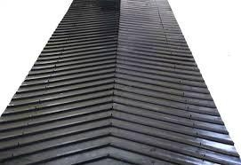 Deeply Inclined Patterned Rubber Conveyor Belt for Gravel 3
