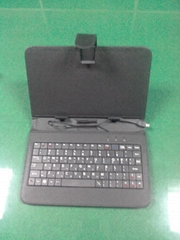 2014 new style black leather keyboard for 7 inch tablet PC keyboard