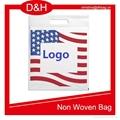 Die Cut Handle Plastic Flag Bag