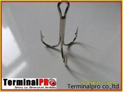 High carbon steel Treble hooks terminal tackles