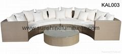 Half round sofa set