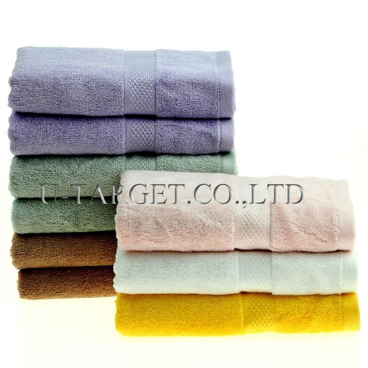 New Soft Absorbent 100% Egyptian Bamboo Fiber Luxury Stripe Hand Sheet Towels 2