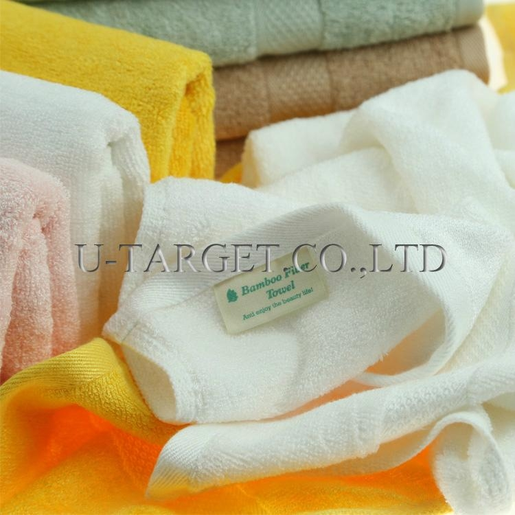 New Soft Absorbent 100% Egyptian Bamboo Fiber Luxury Stripe Hand Sheet Towels 1