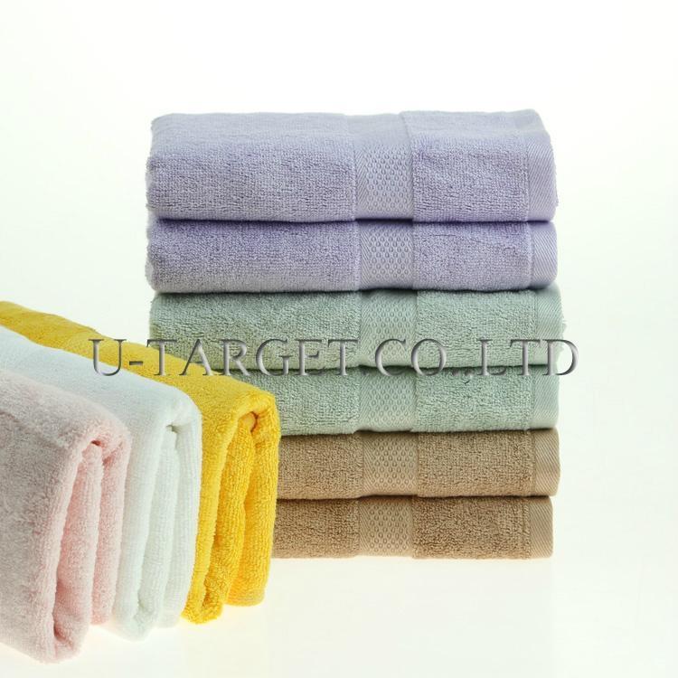 New Soft Absorbent 100% Egyptian Bamboo Fiber Luxury Stripe Hand Sheet Towels 3