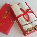 70% Bamboo fiber+30% cotton 34x76cm Solid Soft Home Towel Washcloth Gift Box 5