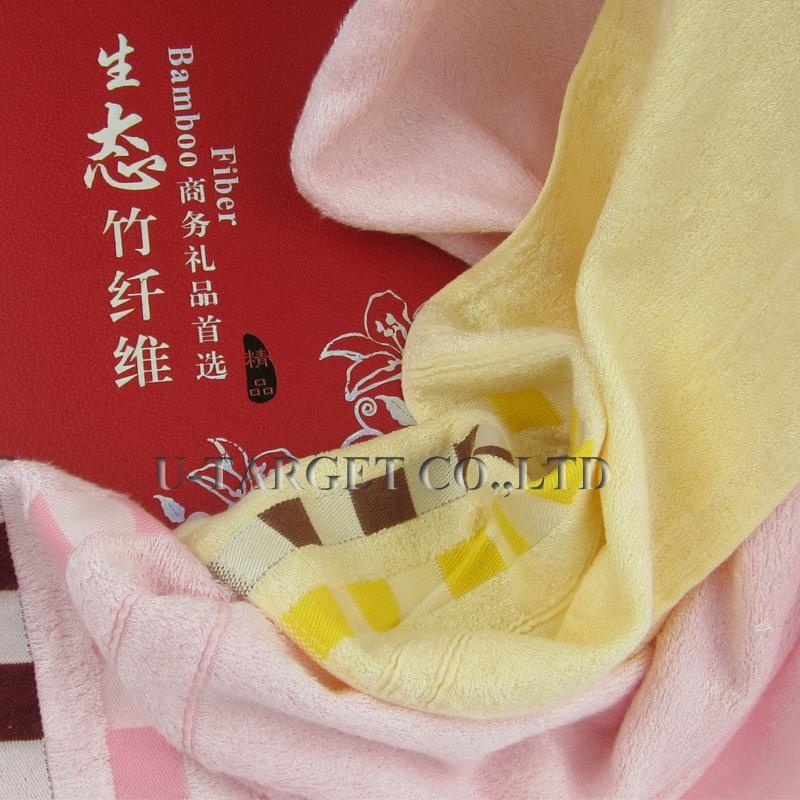 70% Bamboo fiber+30% cotton 70x140cm and 32x76cm Solid Soft Home Towel Washcloth 3