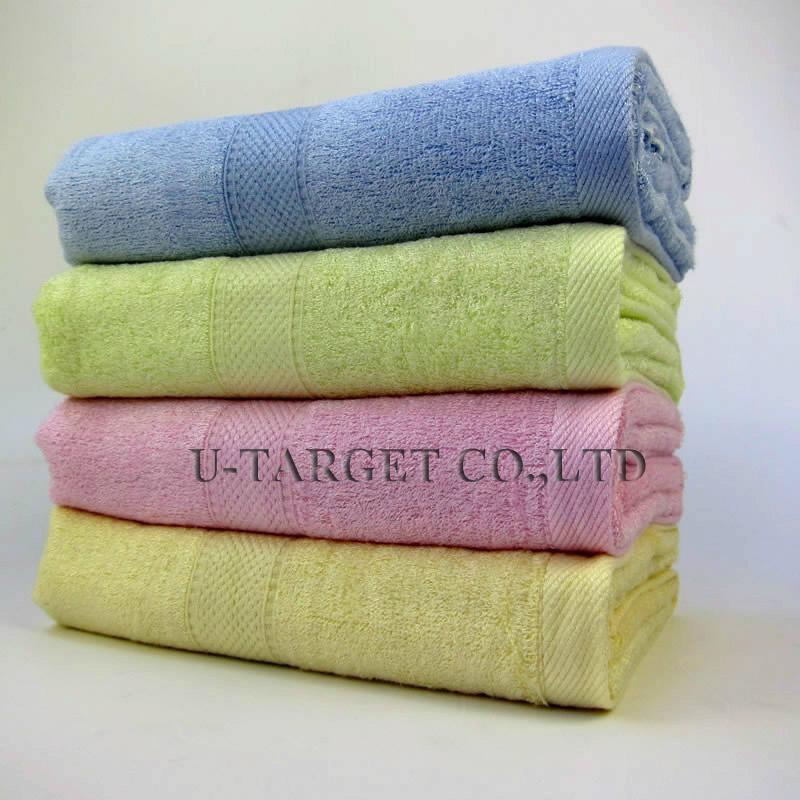 Best Quality 100% Bamboo Wash Soft Bamboo Fiber Beach Towel 2
