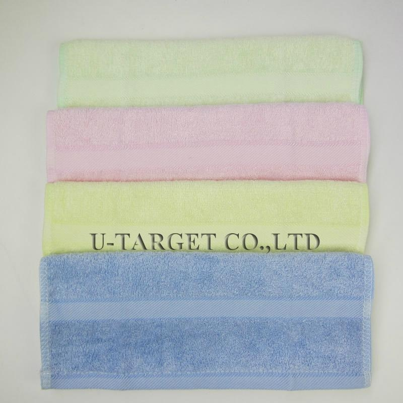 New 2014 Promotion Towels Bathroom 28x48cm 100% Bamboo Hand Towel For Children 3
