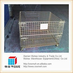 foldable stockable partable forklift cage