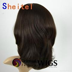 18 inch silk top Mongolian virgin human hair wigs Jewish Kosher wig