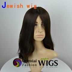20 inch European hair silk top Jewish wig Kosher sheitels