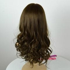 In stock 22 inch 6/8# brown European hair Jewish wigs Kosher sheitel wigs
