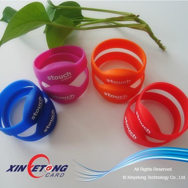 13.56MHZ RFID Wristbands MF Classic 1K S50 1