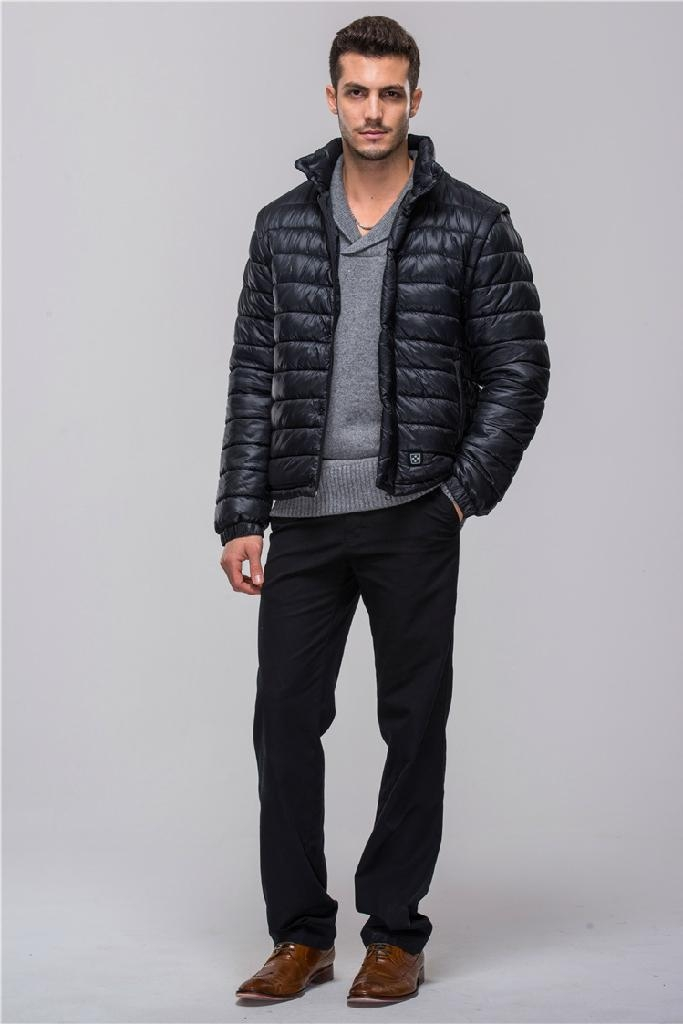 Black men jackets down coats with battery system heating clothing ...