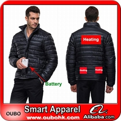Black men jackets down coats with battery system heating clothing warm OUBOHK