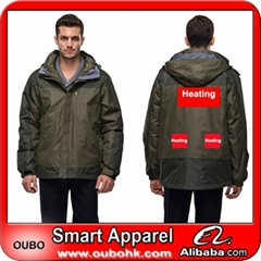 Winter jacket with battery system electric heating clothing warm OUBOHK