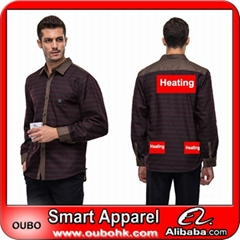 Latest style mens shirt with battery system heating clothing warm OUBOHK