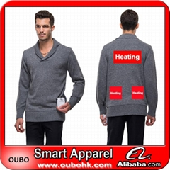 Men sweater with battery system electric heating clothing warm OUBOHK