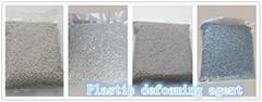 Plastic defoaming agent