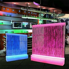 LED floor standing waterwall home room partition panels