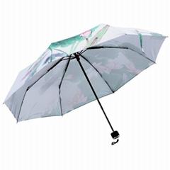 水墨画超级防晒伞