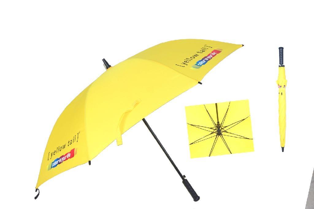 深圳市大黄色高尔夫促销礼品伞 3