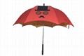 双层装饰彩色 直杆伞