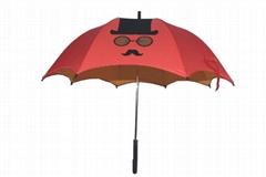 雙層裝飾彩色 直杆傘