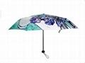 歐洲大牌 油畫 手開三折傘