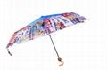 欧洲油画防幅射晴雨两用三折伞