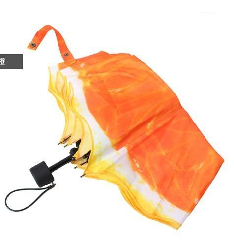 清新水果橙子遮陽創意三折禮品雨傘 2