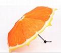 清新水果橙子遮陽創意三折禮品雨傘 3