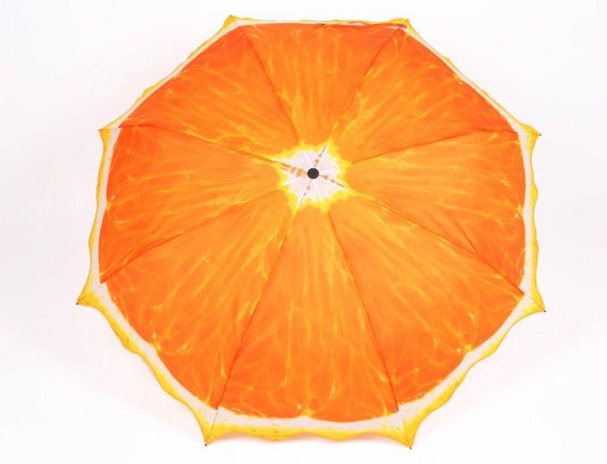 清新水果橙子遮陽創意三折禮品雨傘 1