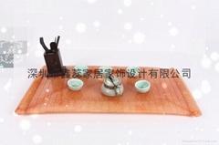 仿玉礼品人造石茶具