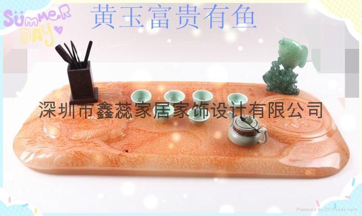 仿玉禮品人造石茶具 3