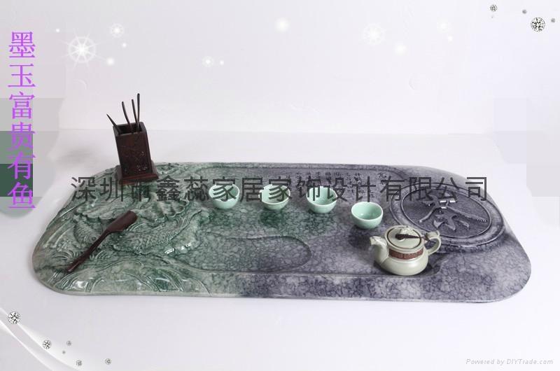 仿玉禮品人造石茶具 5