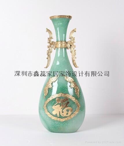 仿玉工艺品花瓶 1