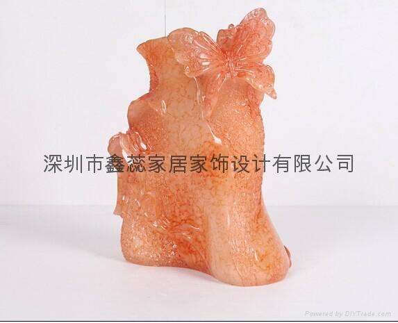 仿玉工藝品花瓶 3