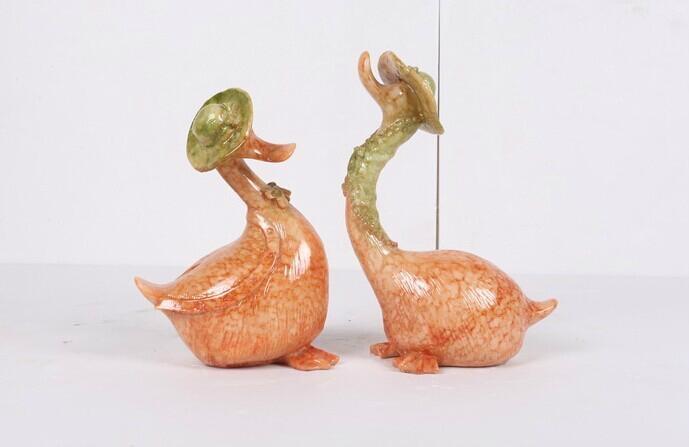 婚慶樹脂擺件天鵝 3