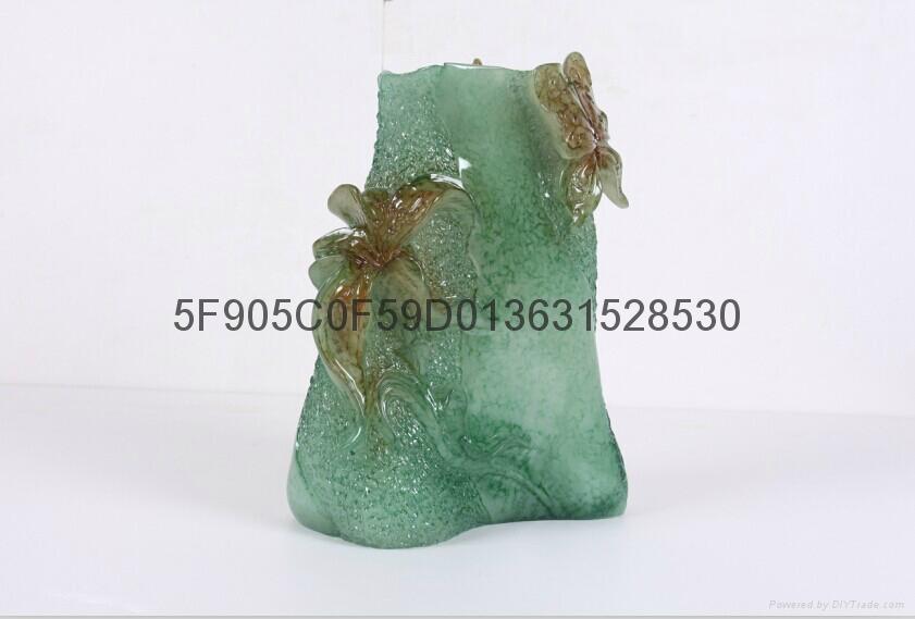 仿玉工艺品花瓶 4