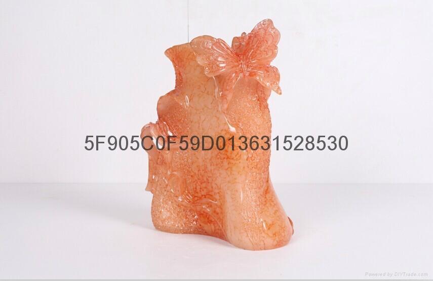 仿玉工艺品花瓶 6