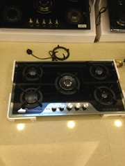 90 CM Built-in 5 Burners Tempered Glass Cooktop Gas stove