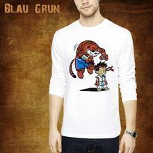 2014 fashion 100%cotton men long sleeve t-shirt