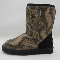 5825 Australian sheepskin wool-one, camouflage colors snow boots